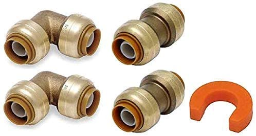 1/2 Combo U008LF & U248LF with Disconnect Clip - Lead Free Brass Coupling for Copper, PEX, CPVC, HDPE and PE-RT Residential or Commercial Plumbing - 100% Satisfaction Guarantee (4 Pack)