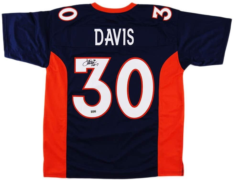 Terrell Davis Autographed/Signed Denver Custom Blue Jersey with