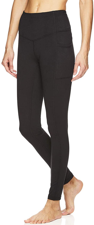 Gaiam Women's Om High Rise Waist Yoga Pants - Performance Spandex Compression Leggings
