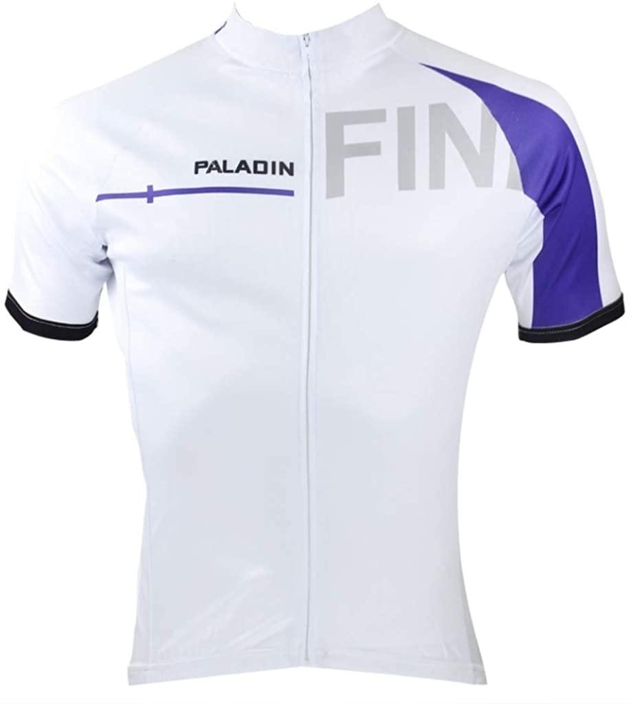Paladinsport Mens Finland Polyester Quick Dry Short Sleeve Cycling Jerseys Size XXXXL