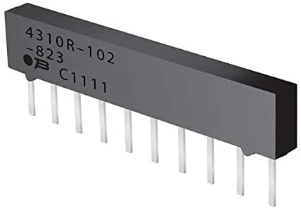 Resistor Networks Arrays 6pin 1Mohms Bussed Low Profile - Pack of 100 (4306R-101-105LF)