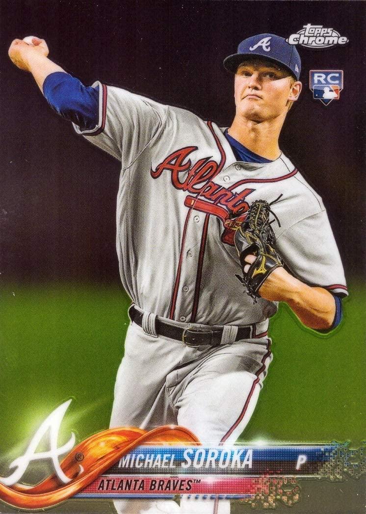 2018 Topps Update Chrome Baseball #HMT16 Michael (Mike) Soroka Rookie Card