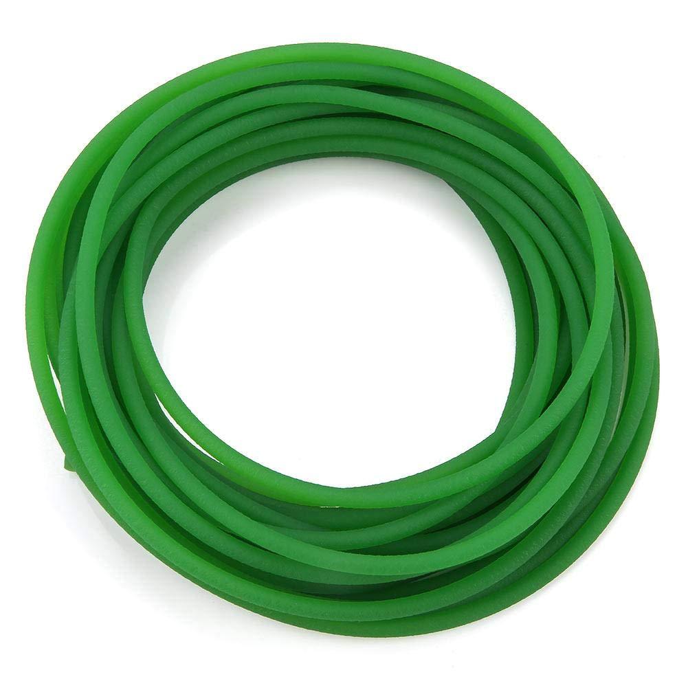 Akozon Polyurethane Round Belt, Green Rough Surface PU Polyurethane Round Belt for Drive Transmission (5mm10m)