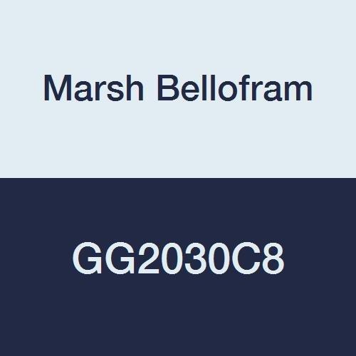 Marsh Bellofram GG2030C8 Marshalltown Value Series Gauge, 2, Center Back Mount, 1/8 NPT, 0-30 PSI