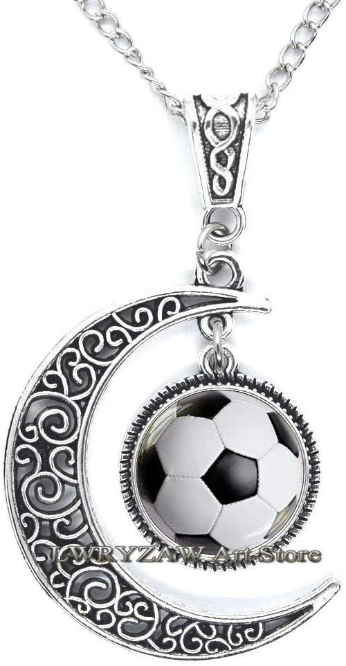 Football Necklace - Football Necklace Gift - Football Gift - Sports Necklace - Ball Sport Jewelry-Team Jewelry,M48