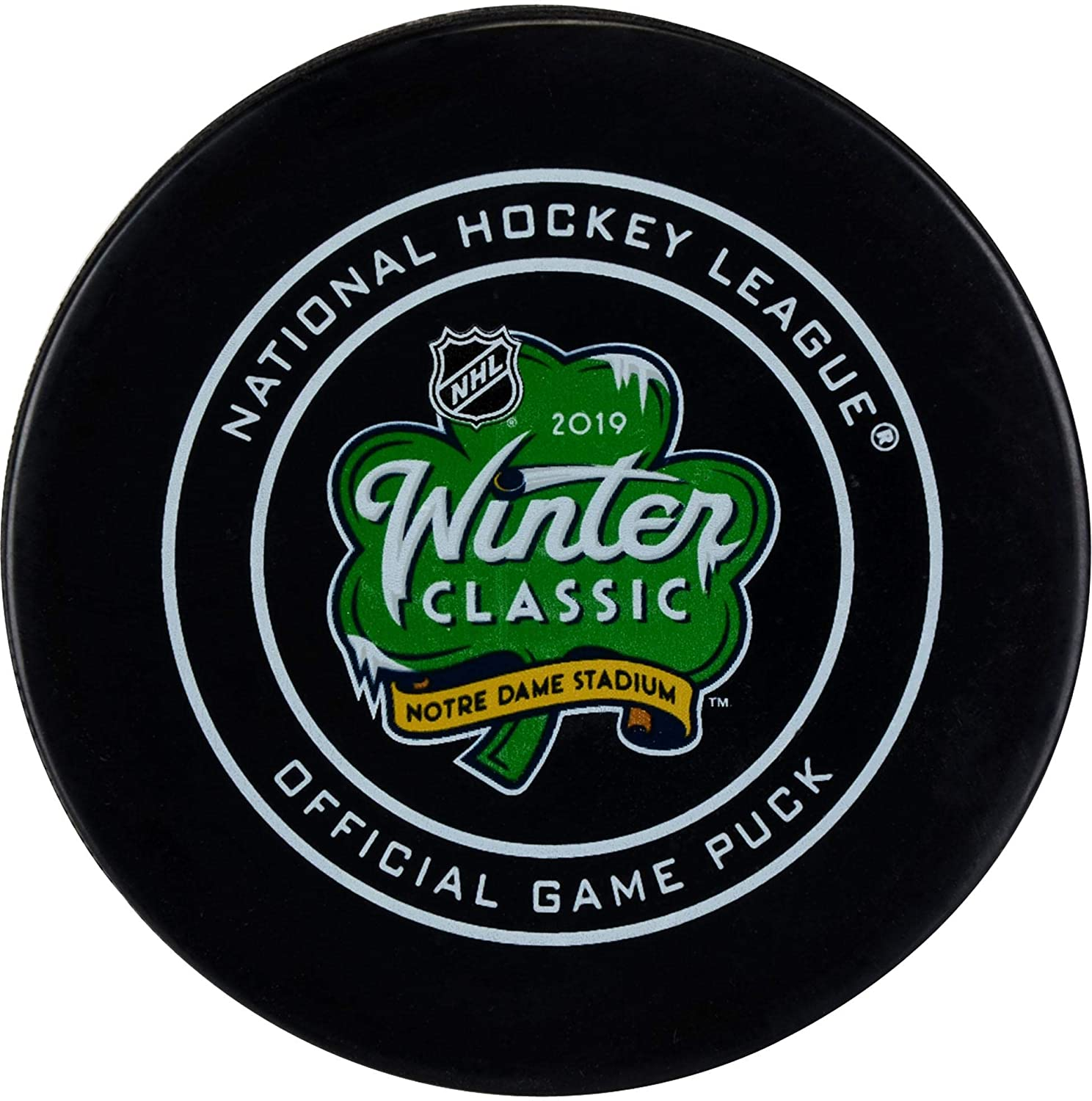 Chicago Blackhawks vs. Boston Bruins 2019 NHL Winter Classic Unsigned Official Game Puck - Fanatics Authentic Certified