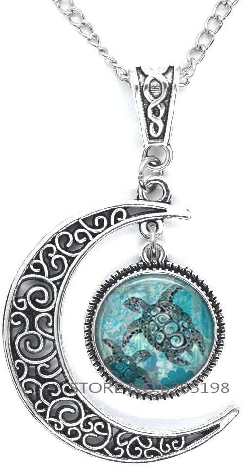Sea Turtles Pendant, sea Turtle Necklace, Aquamarine Blue sea Turtle Jewelry Pendant Turtle Pendant,N394