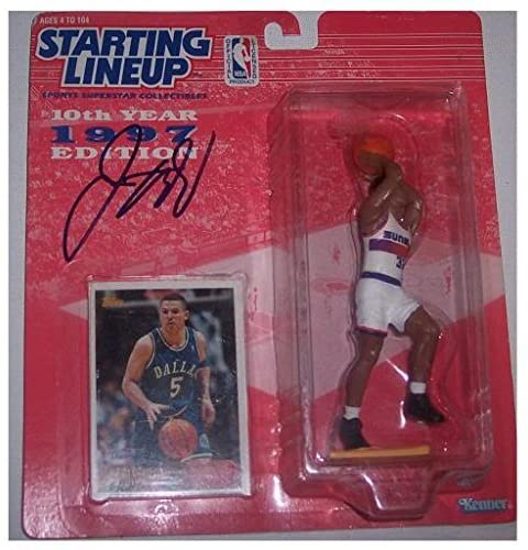 Signed Knicks Jason Kidd Autographed '97 Mavs Starting Line Up Action Figure