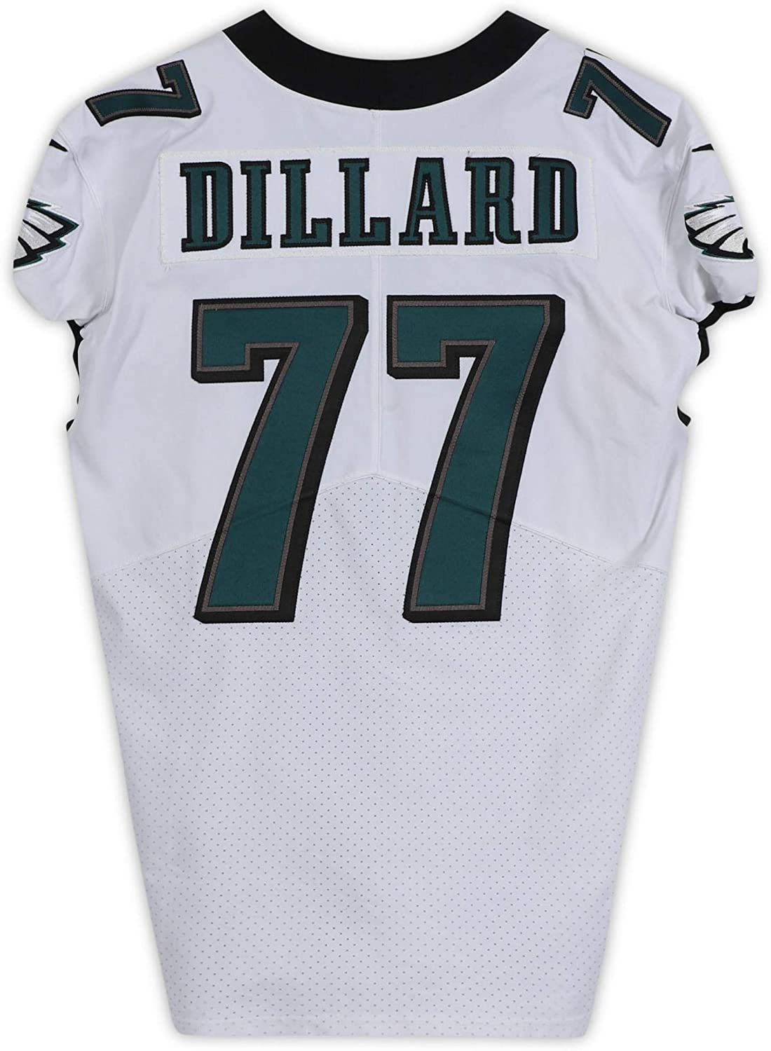 Andre Dillard Philadelphia Eagles Game-Used #77 White Jersey from the 2019-20 NFL Season - Size 48+4 - Fanatics Authentic Certified