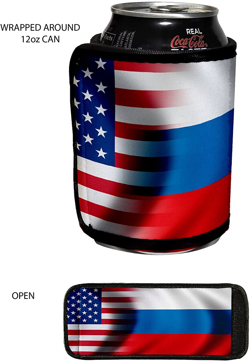 Beverage insulator wrap - Flag of Russian Federation - Choose your design