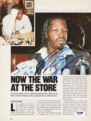 Mike Tyson Autographed 8x11 Magazine Page Photo #Q89347 - PSA/DNA Certified - Autographed Boxing Magazines