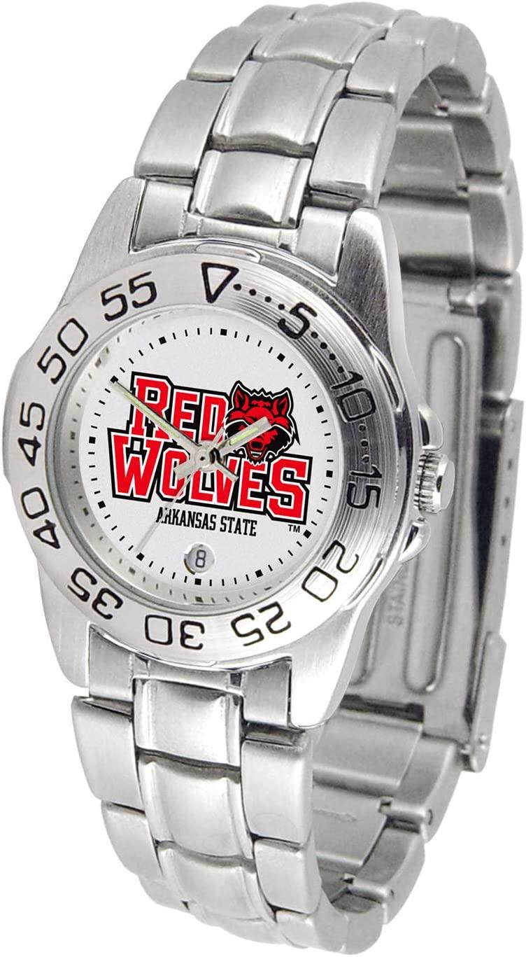 Linkswalker Ladies Arkansas State Red Wolves Ladies' Sport Steel Watch