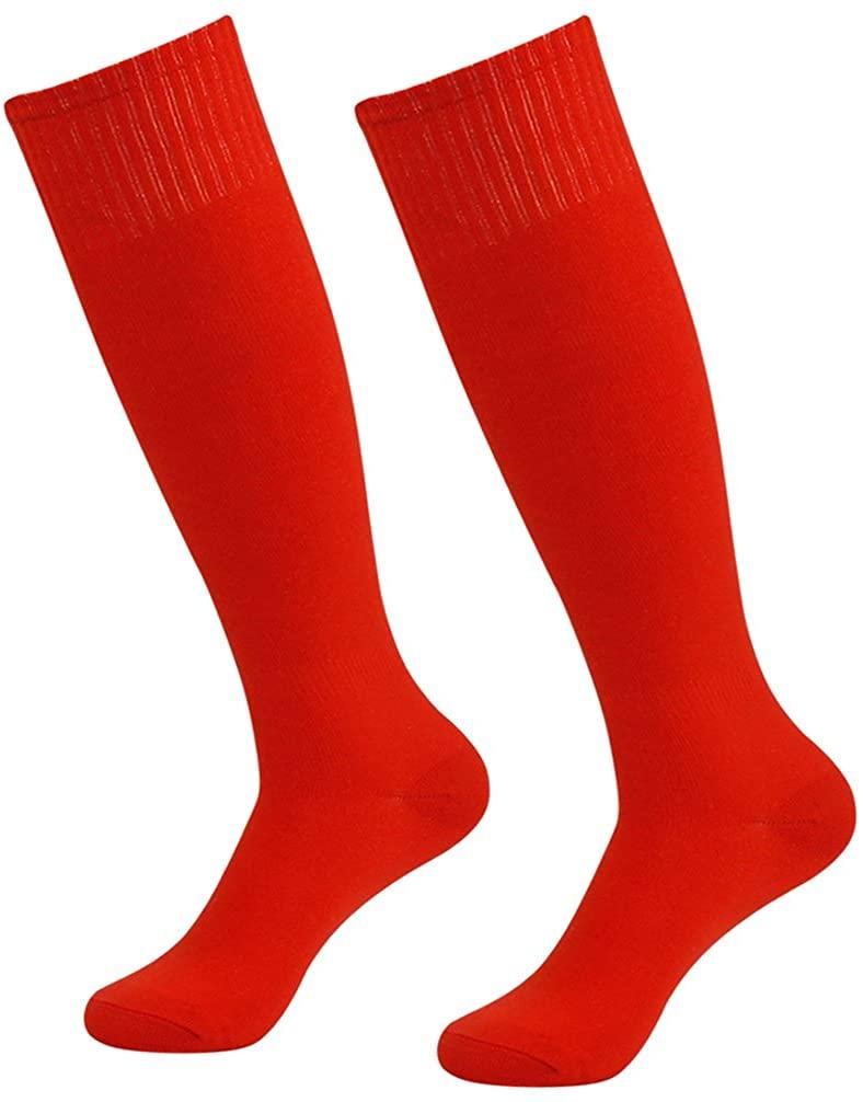 Soccer Socks Unisex,Vive Bears Knee High Sports Solid Long Tube Football Socks 2/6 Pack