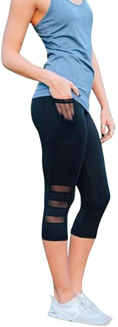 2018 Skinny Leggings Patchwork Mesh Yoga Pants Leggings Fitness Sports for Women by Topunder