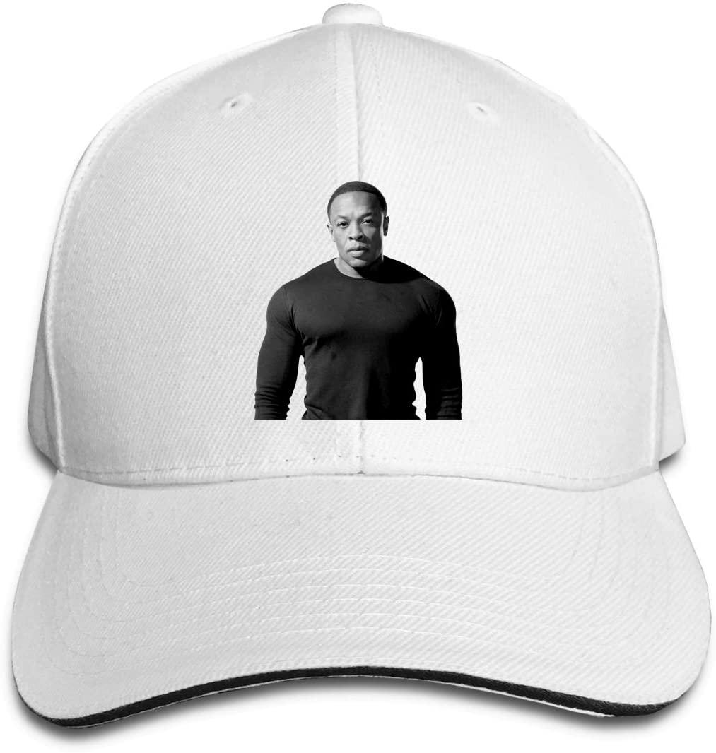 IASIFD Dr-D-r-e Unisex Flex-fit Hat Hip Hop Baseball Cap Sun Hat Outdoor Cap White