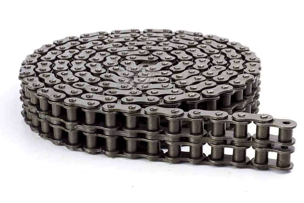 100-2 Double Strand Duplex Roller Chain 10 Feet with 1 Connecting Link