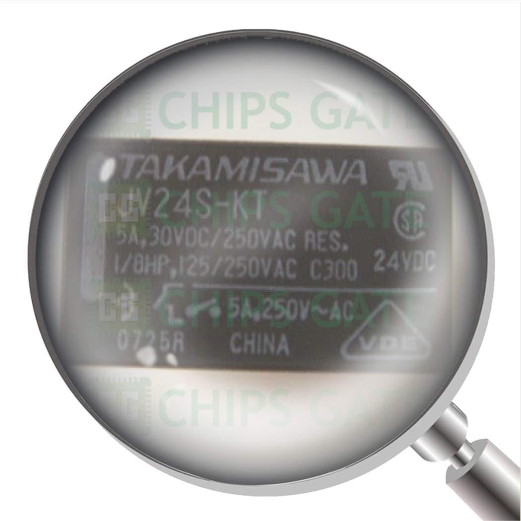 4Pcs JV24S-KT Dip-4 Electromechanical Relay 24Vdc 2.88Kohm 5A Spst-No Power Re