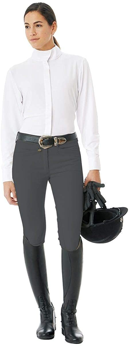 Ovation 467847 Women's Celebrity Slim Secret EuroWeave DX Front Zip Full Seat Breeches
