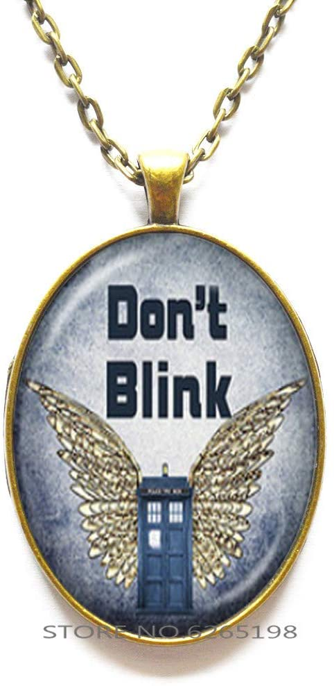 Don't Blink Necklaces Glass Cabochon Necklaces Jewelry for Women Good Friends Gift Souvenirs Gift,N005