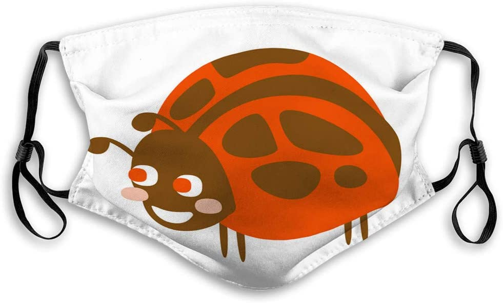 Xunulyn Anti Dust Mouth Muffle Cover Cute Cartoon Ladybug Colorful Character Safety Covers
