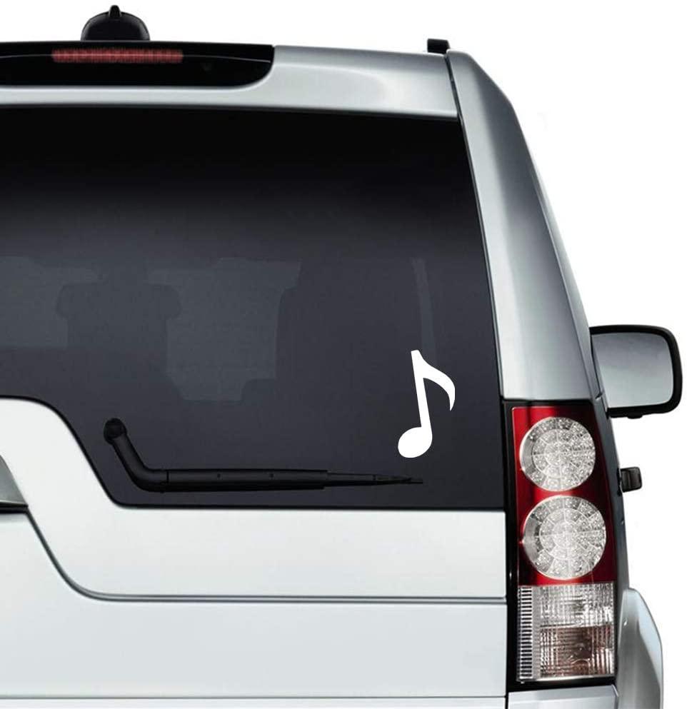 N/ A Musical Notes Vinyl Sticker Graphic Bumper Tumbler Decal for Vehicles Car Truck Windows Laptop MacBook Phone Wall Door