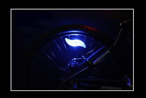 2 Pcs Bicycle Spoke LED Light Wind Fire Wheels Silica Gel Spoke Light Steel Wire Lamp Mountain Bike Wheel Light