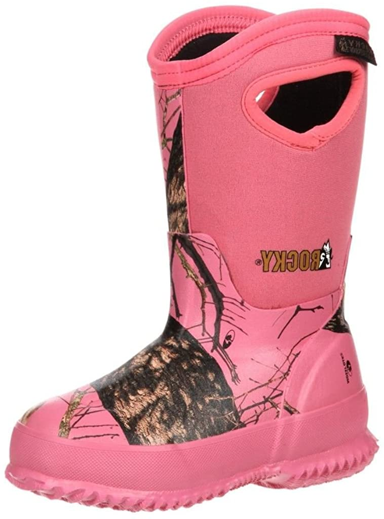 ROCKY Girl's Core Insulated Rubber Boot,Pink,5 M Big Kid