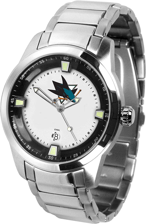 Game Time NHL San Jose Sharks Mens TitanWrist Watch, White, One Size