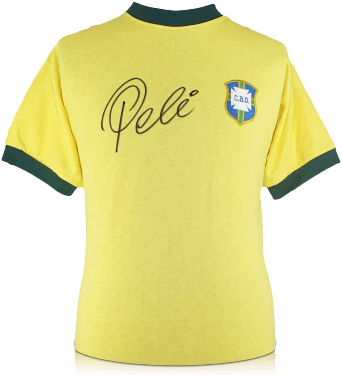 Pele Signed Brazil 1970 Soccer Jersey | Autographed Sport Memorabilia