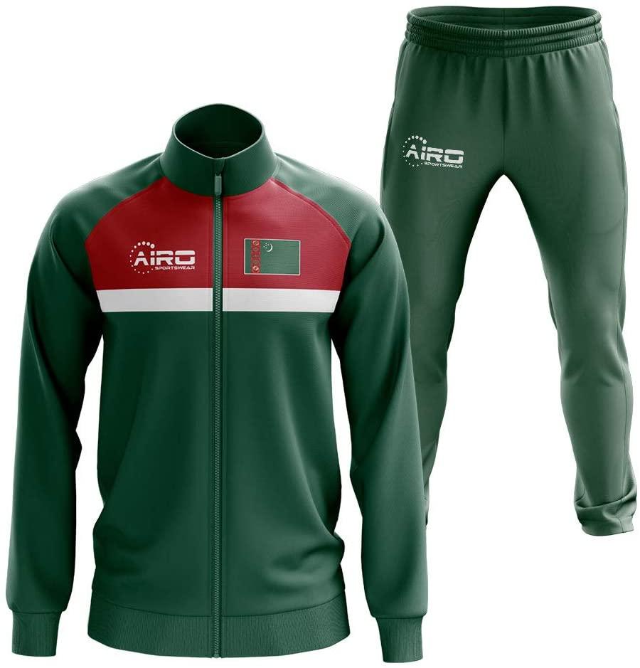 Airosportswear Turkmenistan Concept Football Tracksuit (Green)