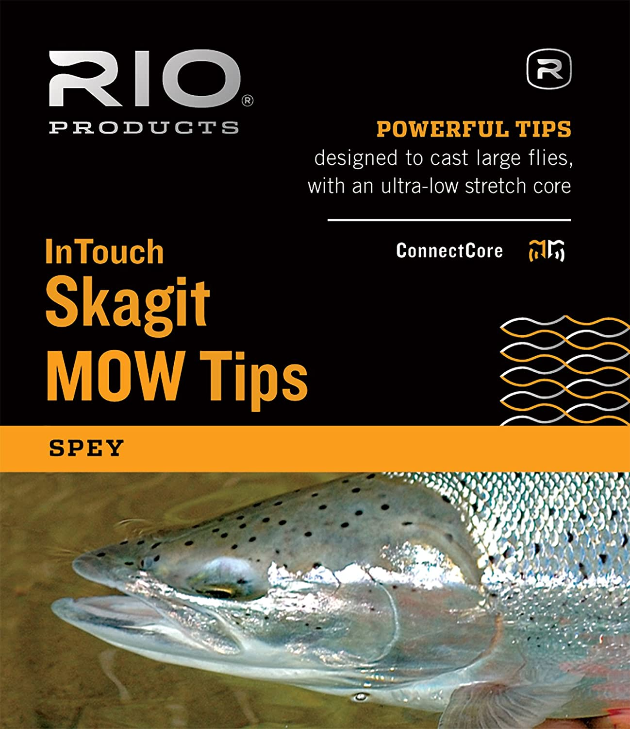 RIO Fly Fishing InTouch Skagit MOW, Extra Heavy Tip, 7.5 T-17/2.5 Float Fishing Line, Black/Gray