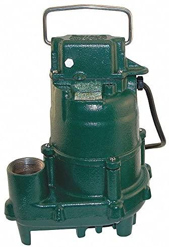 Submersible Effluent Pump, 1/2hp, 10.5A