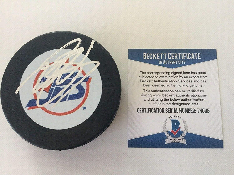 Mark Scheifele Autographed Puck - Vintage Retro Beckett BAS COA a - Beckett Authentication - Autographed NHL Pucks