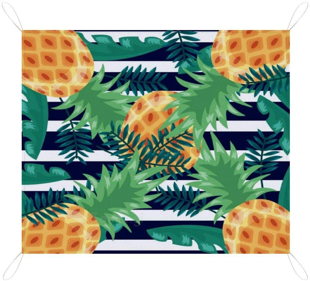 Plant Pineapple Picnic Blanket Waterproof Lightweight Picnic & Beach Blanket, Machine Washable Camping Mat for Beach, Park, Travel