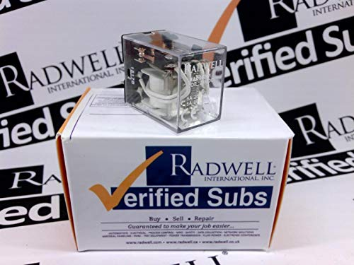 RADWELL VERIFIED SUBSTITUTE 56.42.9.024.00.00SUB Relay - 24VDC, 5A 4PDT Plug in Relay- Replaces Finder PN: 56.42.9.024.00.00