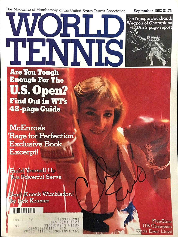 Chris Evert Signed World Tennis Magazine September 1982 - Autographed Tennis Magazines