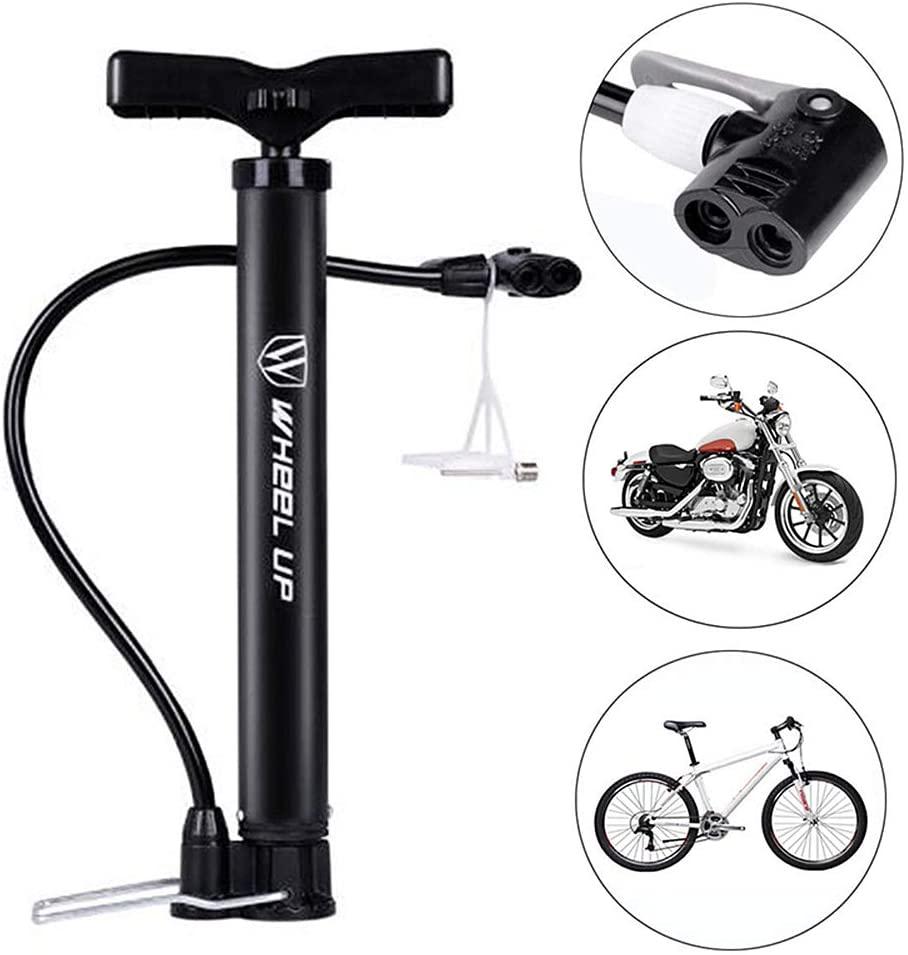 2Krmstr Bike Pump, Portable Mini Bike Hand Pump Motorcycle Tyre Hand Inflator Compatible with Presta Schrader Valve, 120 PSI