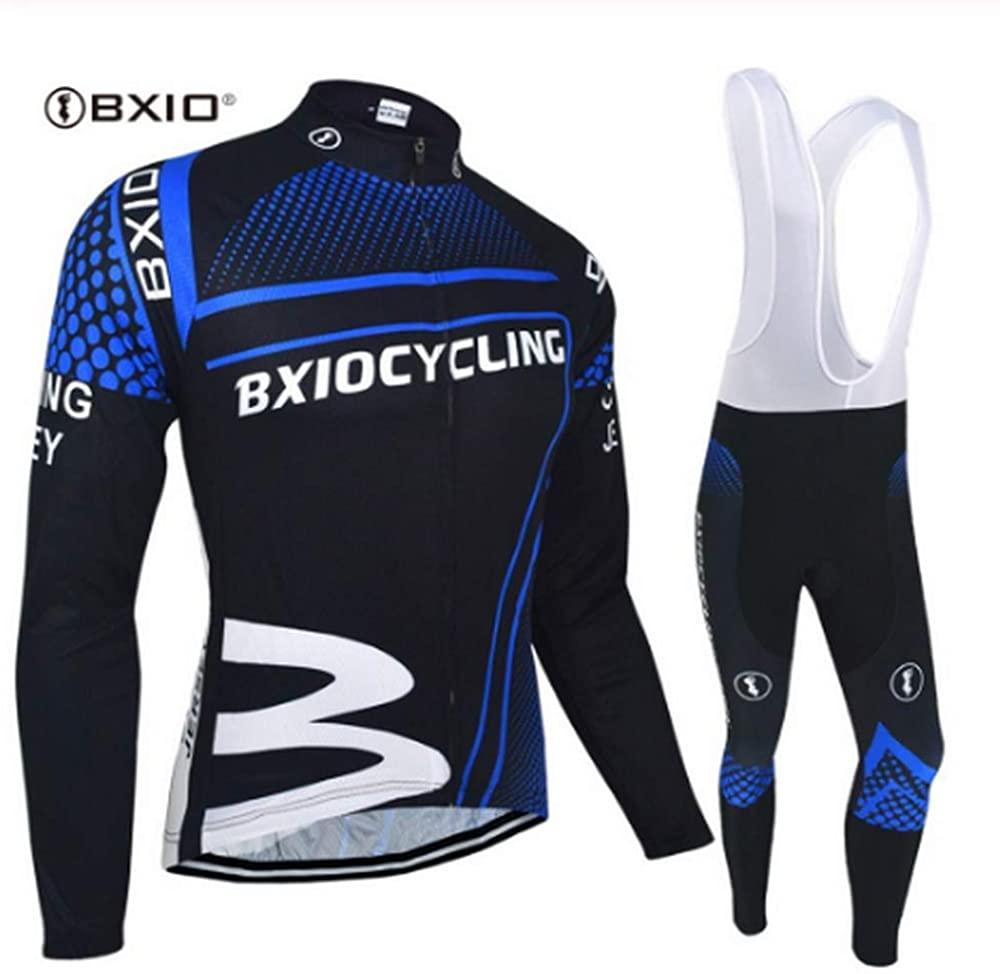 Men's Cycling Jersey Set Bike Jersey Bicycle Winter Thermal Fleece Long Sleeve Suit C209