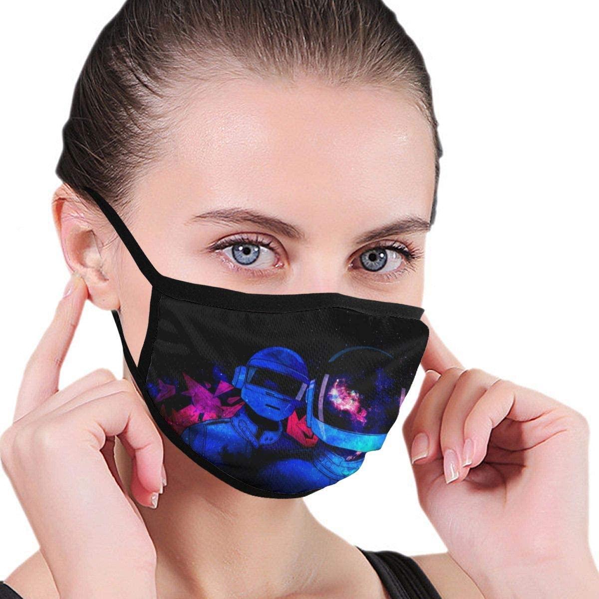 Qwertyi Daft Punk Outdoor Seamless Face Mouth Safety Reusable Balaclava
