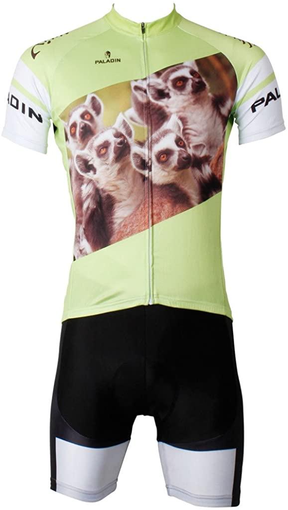 Paladinsport 3D Animals Meerkats Men's Short Sleeve Bike Clothing