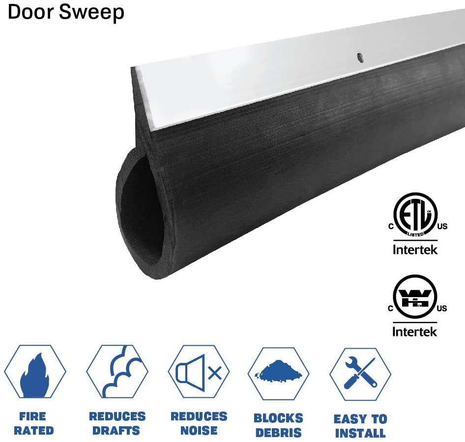 Fire Rated/Aluminum Door Sweep with Neoprene Rubber Extrusion #739 (42