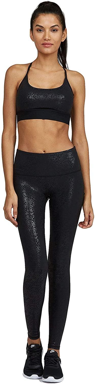 Noli Yoga Women Activewear Performance Legging (Gloss Black, X-Small)