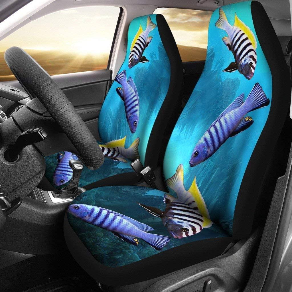 Cynotilapia Afra (Afra Cichlid) Fish Print Car Seat Covers