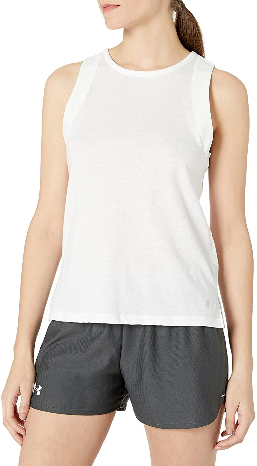 Under Armour Womens Tri-Blend Cutout Tank