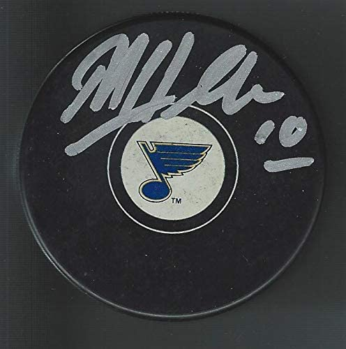 Dale Hawerchuk Signed Hockey Puck - Autographed NHL Pucks
