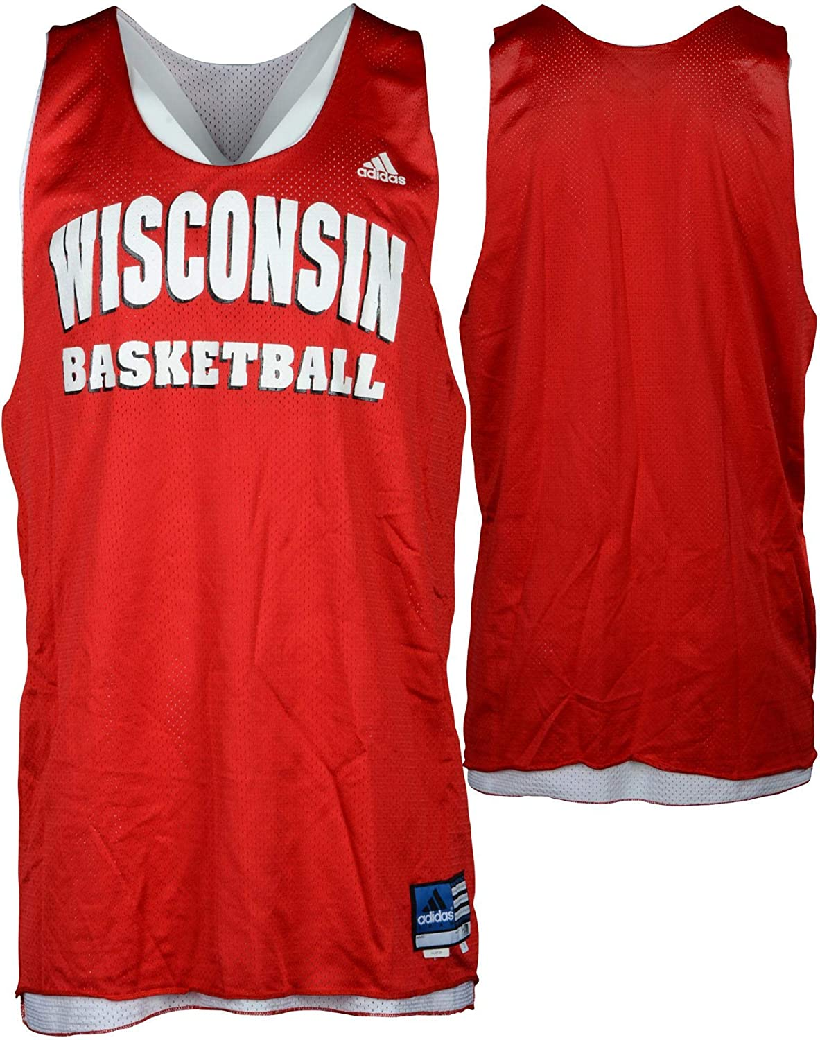 Wisconsin Badgers Team-Issued Red Practice Jersey from the Men's Basketball Program - Size XL - Fanatics Authentic Certified