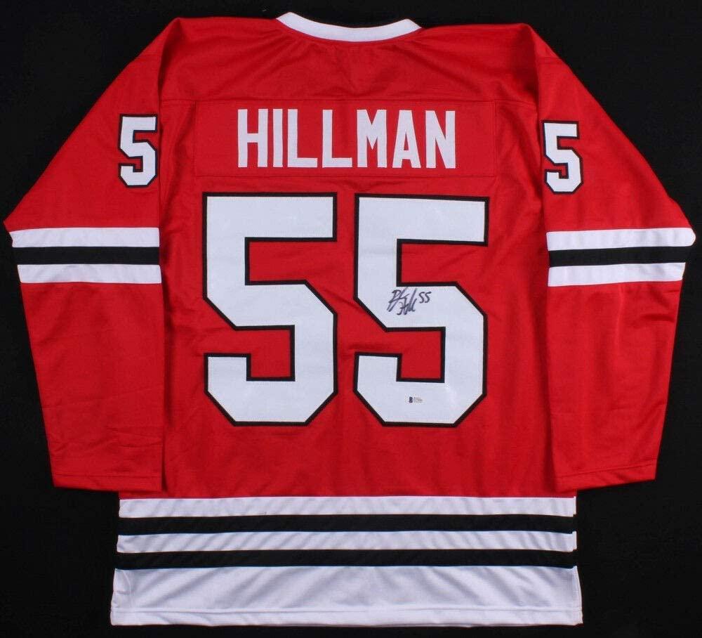 Blake Hillman Autographed Signed Chicago Blackhawks Jersey (Beckett COA) Rookie Defenseman