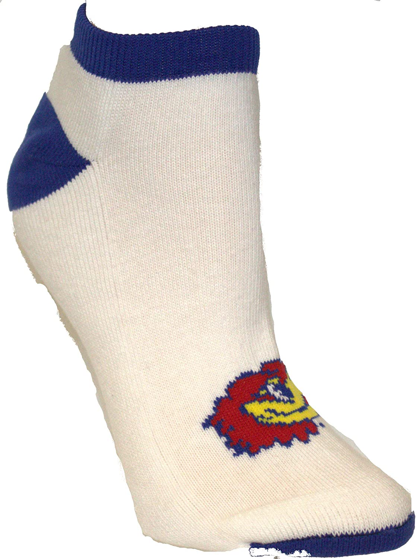 College Editions Kansas Jayhawks No Show Socks (Medium Adult (9-11))