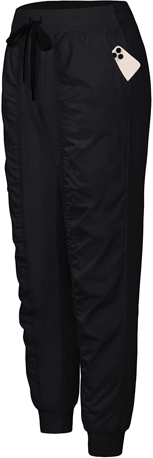 BLEVONH Women UPF 50+ Hiking Pants Ruched Light Quick Dry Joggers Pant Pockets