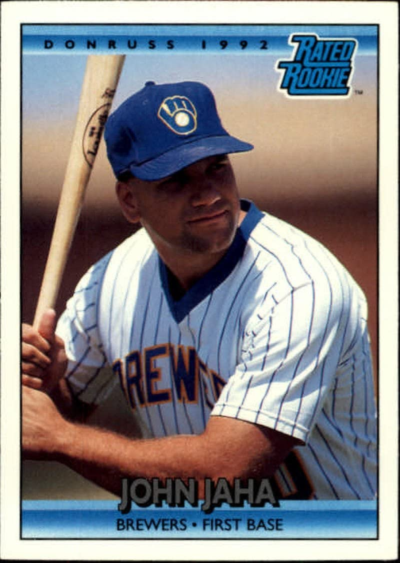 1992 Donruss #398 John Jaha RR NM-MT RC Rookie Brewers